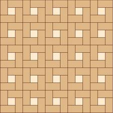 квадрат сложный прямой из двух пород (дуб, клен)
