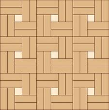 квадрат двойной сложный прямой из двух пород дерева