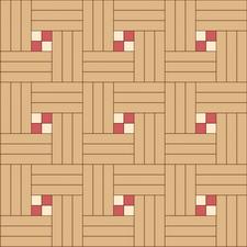 квадрат тройной (художественный) из трех пород дерева