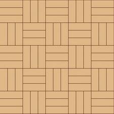 квадрат простой (вьетнамка) тройной