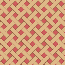 плетенка из двух пород дерева дуб, красное дерево